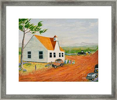 County Church In 1933 Tennessee Framed Print