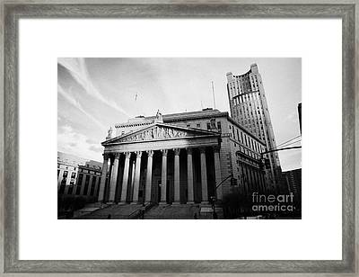 County Courthouse Civic Center Centre Street Foley Square New York City Framed Print by Joe Fox