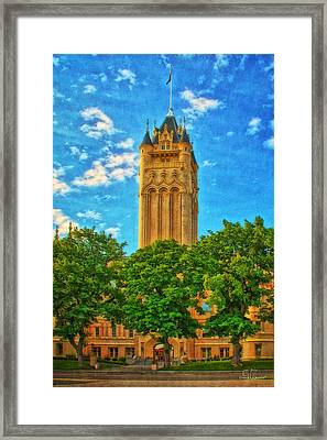 County Courthouse Framed Print by Dan Quam
