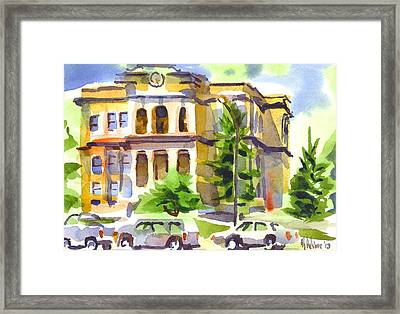 County Courthouse Framed Print by Kip DeVore