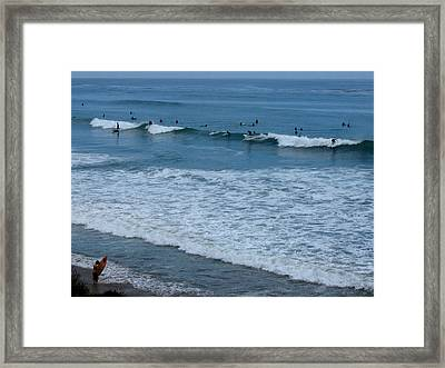 County Line Surfers Framed Print