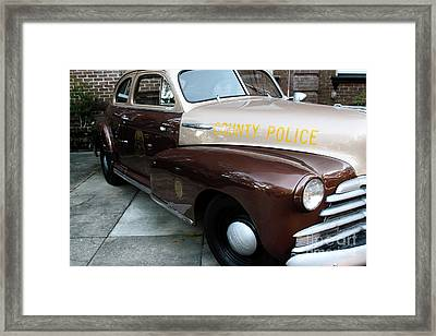 County Police Framed Print by John Rizzuto