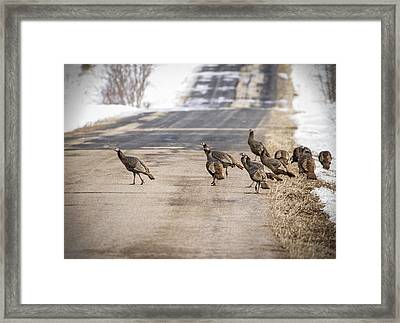 County Road Crew Framed Print by Thomas Young