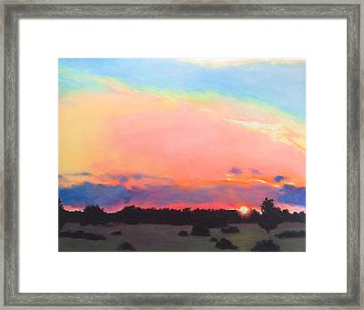 County Road Sunset Framed Print by Charles Wallis