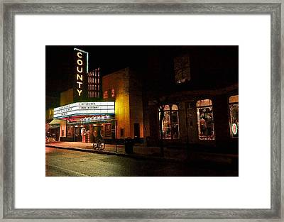 County Theater At Night Framed Print