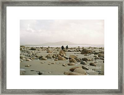 Couple And The Rocks Framed Print by Rebecca Harman