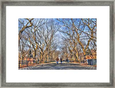 Couple At Literary Walk Framed Print by Randy Aveille