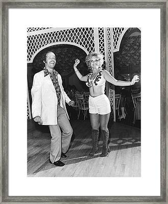 Couple Dancing At West Hampton Framed Print by Underwood Archives