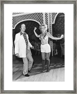 Couple Dancing At West Hampton Framed Print