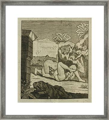 Couple Having Oral Sex Outdoors Framed Print by British Library