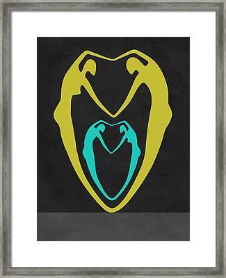 Couple Heart Framed Print