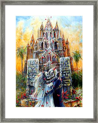 Framed Print featuring the painting Couple In Love by Heather Calderon