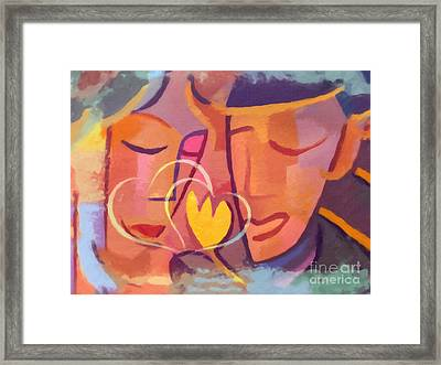 Couple In Love Framed Print by Lutz Baar