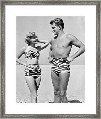 Couple In Matching Attire Framed Print