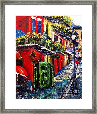 Couple In Pirate's Alley Framed Print