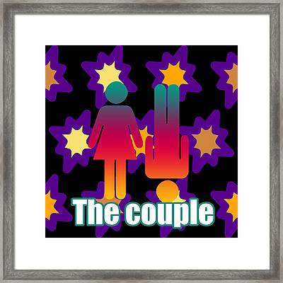Couple In Popart Framed Print by Tommytechno Sweden