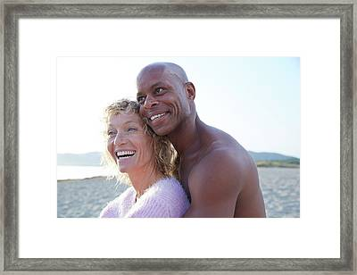 Couple Laughing Framed Print