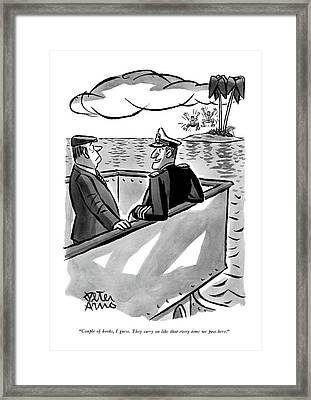 Couple Of Kooks Framed Print by Peter Arno