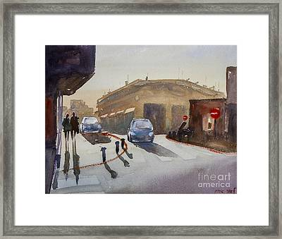Couple On The Street Framed Print by Lior Ohayon