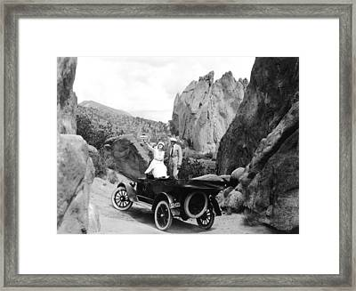 Couple Out For A Ride Framed Print