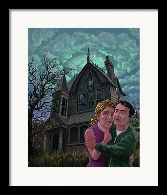 Couple With House Framed Prints
