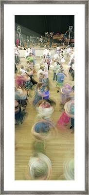 Couple Performing Contra Dance Framed Print by Panoramic Images