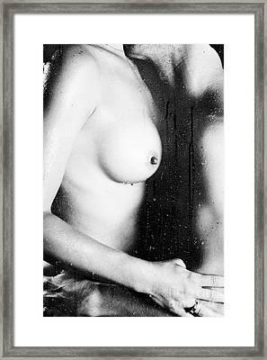 Couple Shower Framed Print by Erotic Art