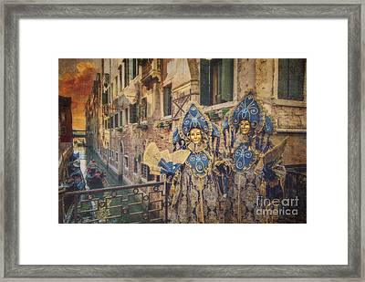Couple With Fans Framed Print by Danilo Piccioni