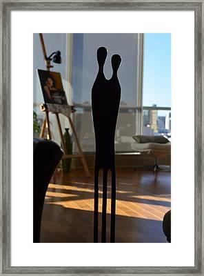 Coupled Alone Framed Print by Regina Avila