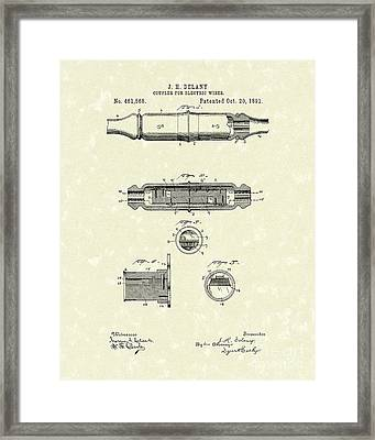 Coupler 1891 Patent Art Framed Print