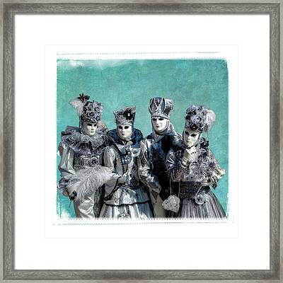 Couples Elaborate Costume For Carnival Framed Print by Darrell Gulin