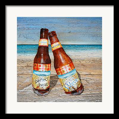 Beer Mixed Media Framed Prints