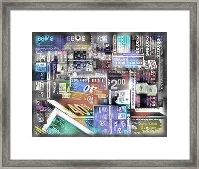 Coupon Collage 2 Framed Print by Steve Ohlsen