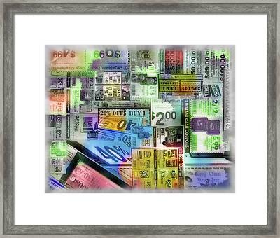 Coupon Collage Framed Print by Steve Ohlsen