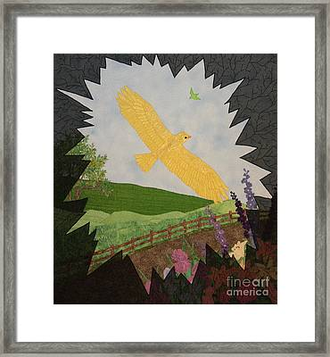 Courage Is The Bird That Soars Framed Print
