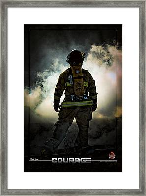 Courage Framed Print by Mitchell Brown