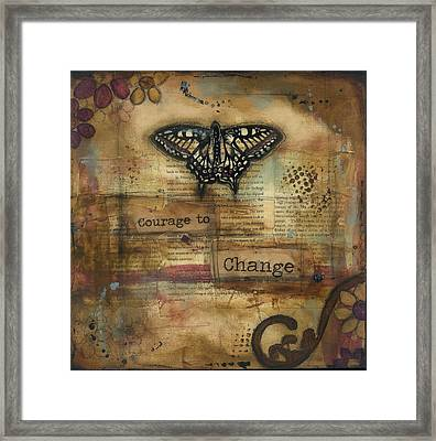 Courage To Change Framed Print by Shawn Petite