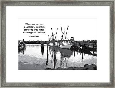 Courageous Decision Framed Print by Mike Flynn