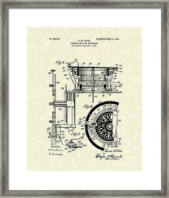Course And Log Recorder 1908 Patent Art Framed Print by Prior Art Design