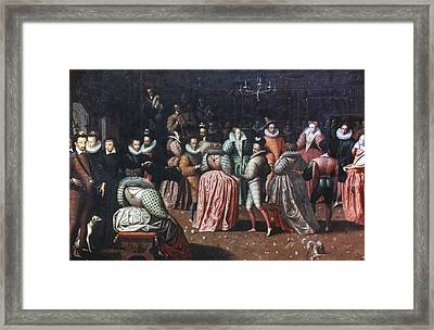 Court Ball, 16th Century Framed Print