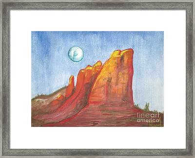 Court House Butte  Framed Print