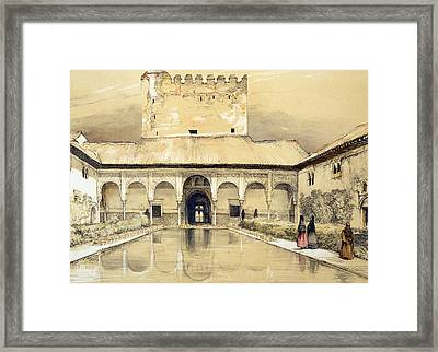 Court Of The Myrtles And The Tower Framed Print by John Frederick Lewis