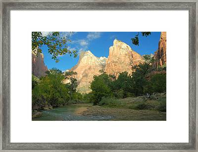 Court Of The Partiarchs Framed Print by Stephen  Vecchiotti