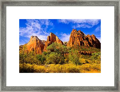 Framed Print featuring the photograph Court Of The Patriarchs by Greg Norrell