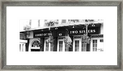 Court Of The Two Sisters Framed Print by Scott Pellegrin