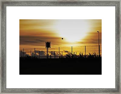 Court Side Framed Print