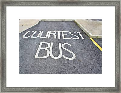 Courtesy Bus Framed Print by Tom Gowanlock