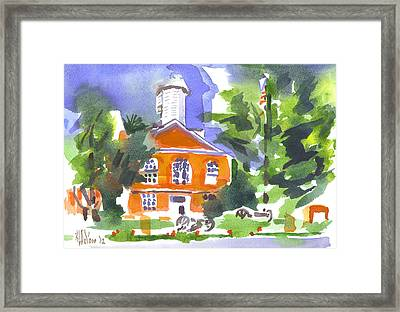 Courthouse Abstractions Framed Print by Kip DeVore