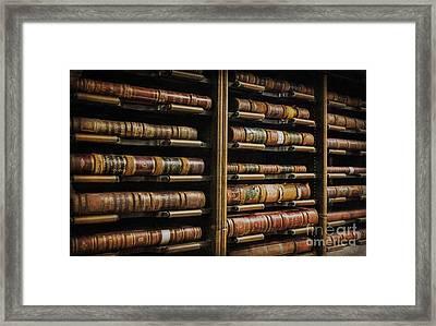 Courthouse Achival Books Framed Print