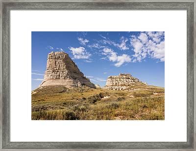 Courthouse And Jail Rocks - Bridgeport Nebraska Framed Print